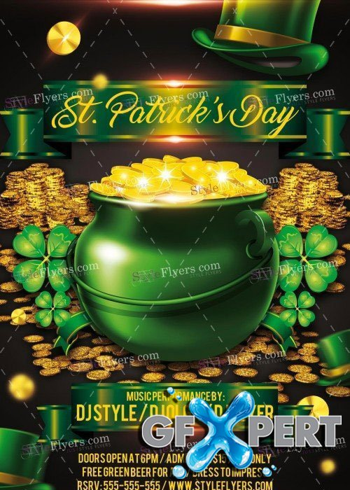 St Patricks Day V15 PSD Flyer Template