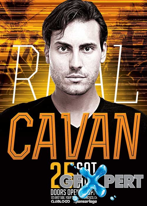 DJ Cavan Club Party V7 Flyer Template