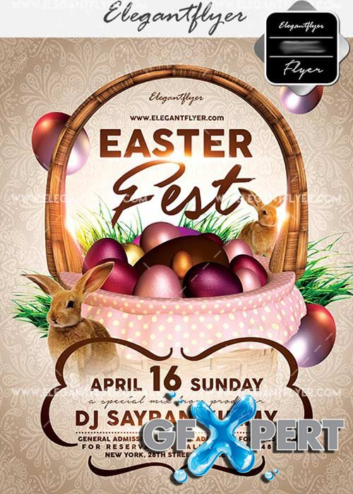 Easter Fest V9 Flyer PSD Template + Facebook Cover