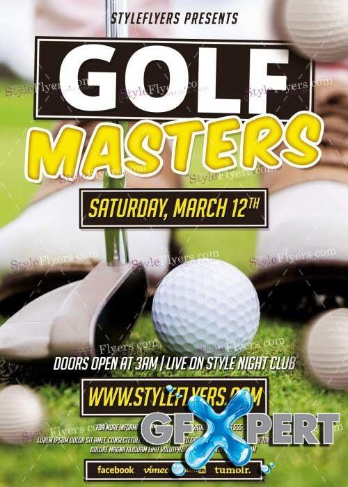 Golf Masters PSD V19 Flyer Template