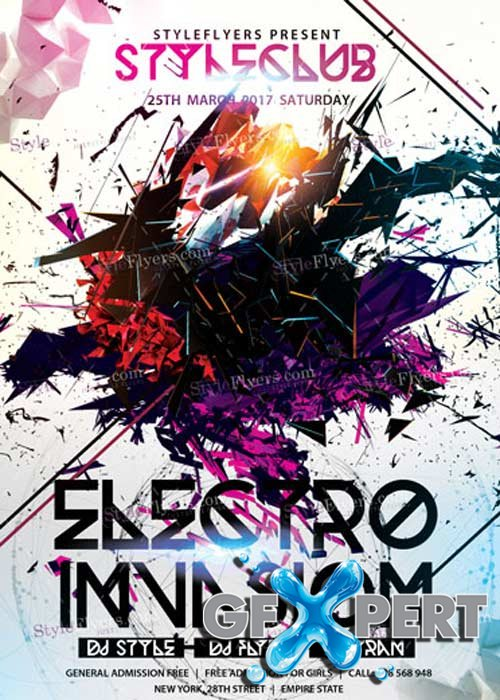 Electro Invasion V9 PSD Flyer Template