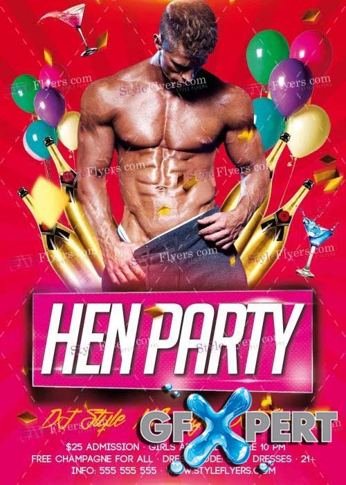 Hen Party V10 PSD Flyer Template