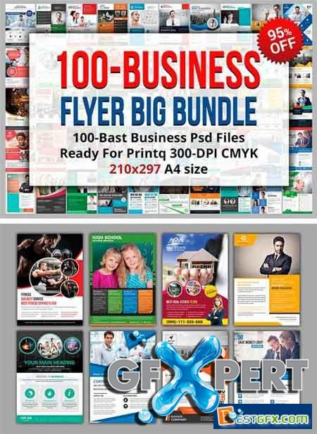 Creativemarket 100-Best Business Flyer Bundle 1141176