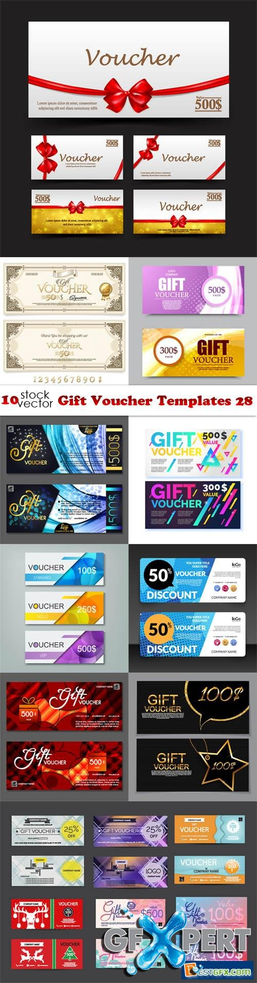 Vectors - Gift Voucher Templates 28