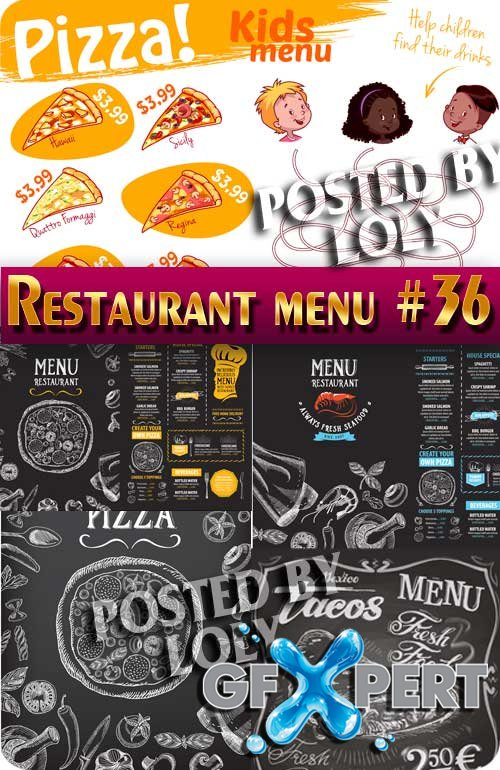 Restaurant menu #36 - Stock Vector