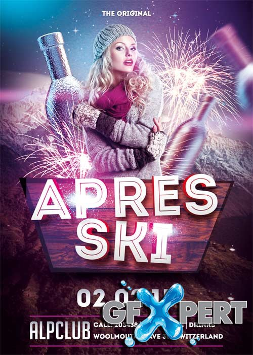 Apres Ski V15 Party Flyer Template