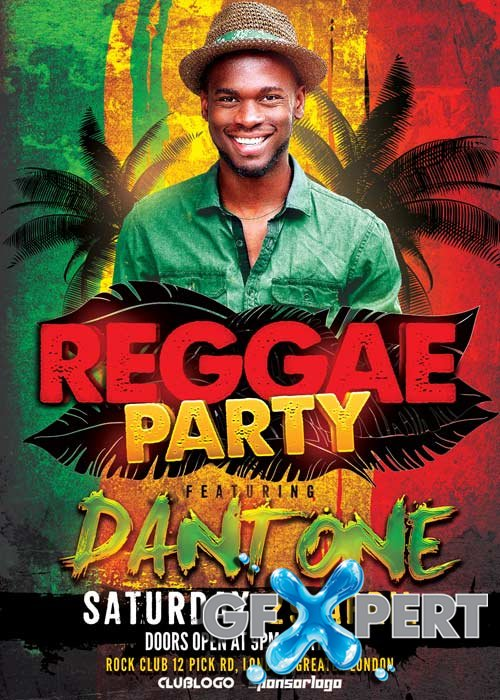 Raggae Party V5 Flyer Template