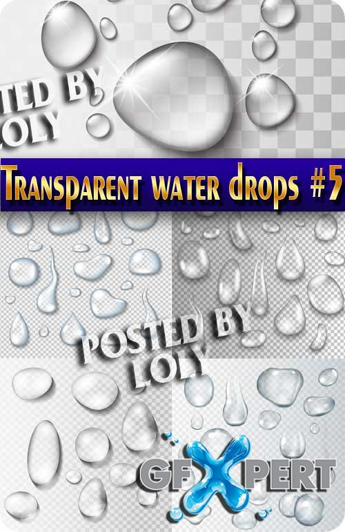 Transparent drops #5 - Stock Vector