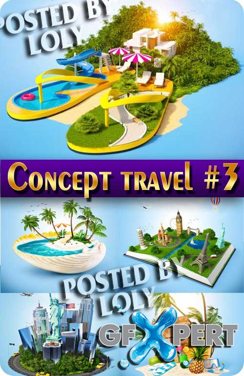 Concept. Travel #3 - Stock Photo