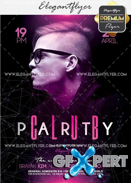 Club Party V14 Flyer PSD Template + Facebook Cover