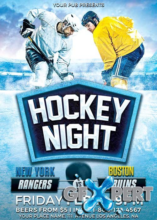 Hockey Night V10 Flyer Template