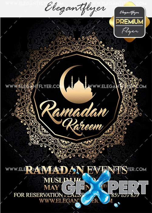 Ramadan Kareem V2 Flyer PSD Template + Facebook Cover