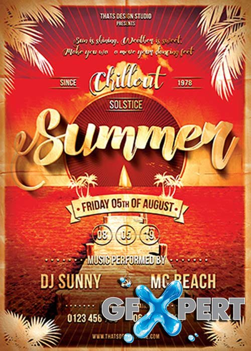 Summer Lounge V20 Flyer Template