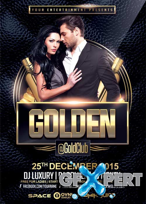Golden V22 Flyer Template