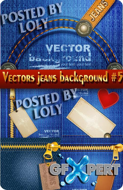 Vectors jeans background #1 - Stock Vector