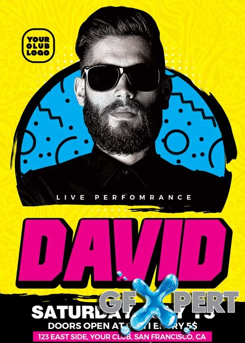 DJ David Club Party V25 Flyer Template