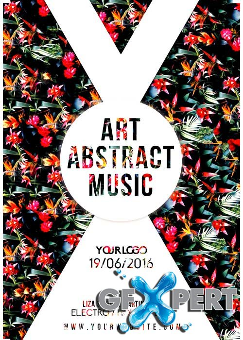 Art Abstract Music V5 Flyer Template