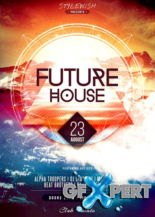 Future House V18 Flyer Template