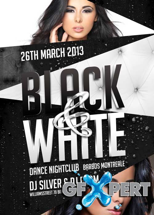 Black and White Party V15 Flyer Template