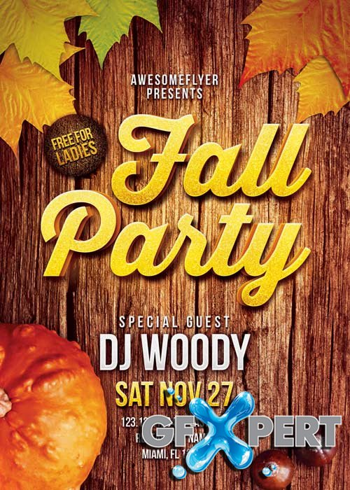 Fall Party V14 Flyer Template