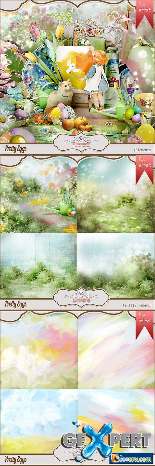 Easter Scrap Kit - Pretty Eggs