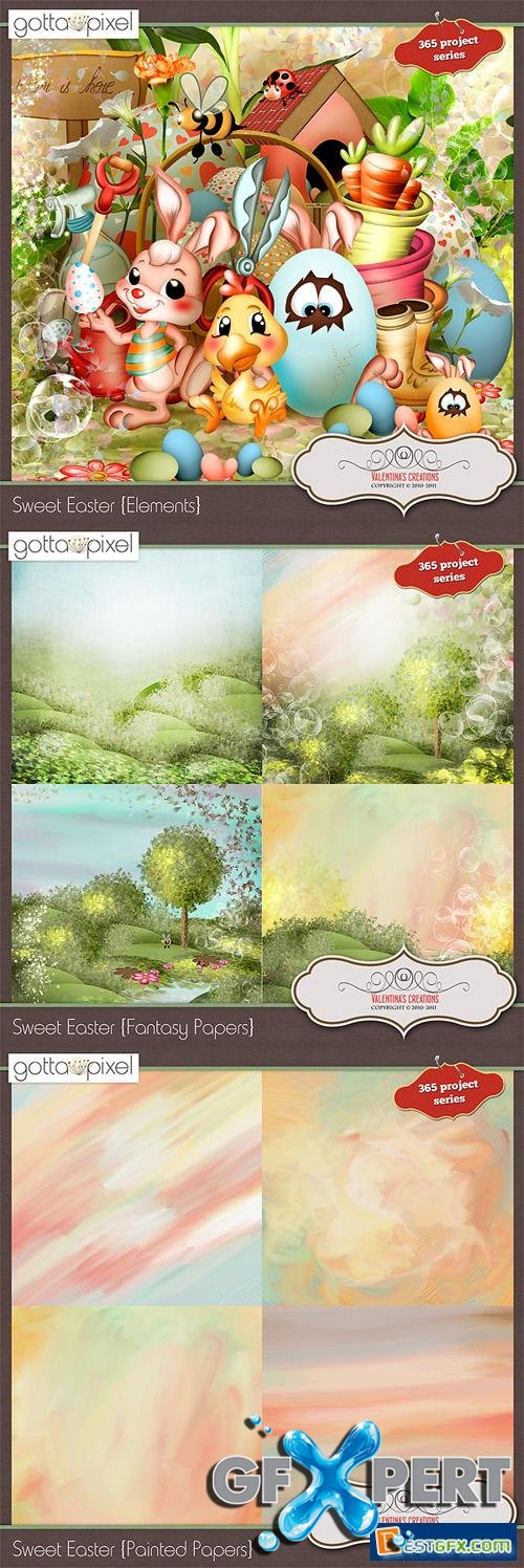 Scrap Kit - Sweet Easter (Elements, Papers, Alpha)