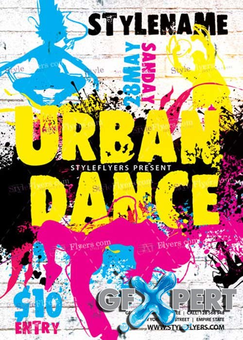 Urban Dance V19 PSD Flyer Template
