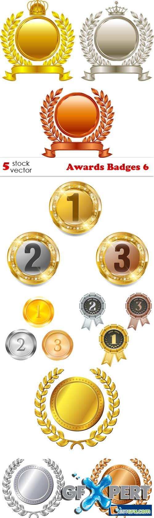Vectors - Awards Badges 6
