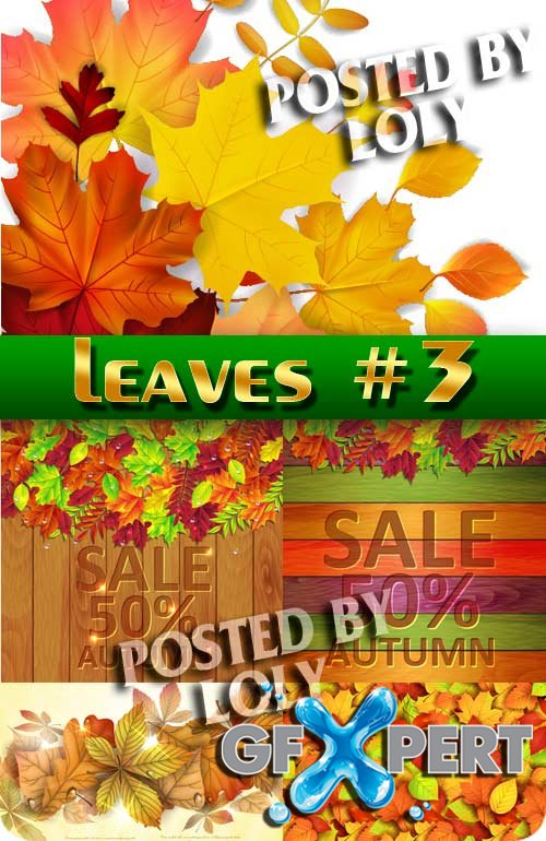 Autumn leaves #3 - Stock Vector
