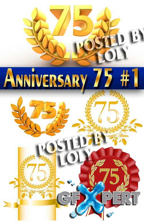 Anniversary 75 #1 - Stock Photo