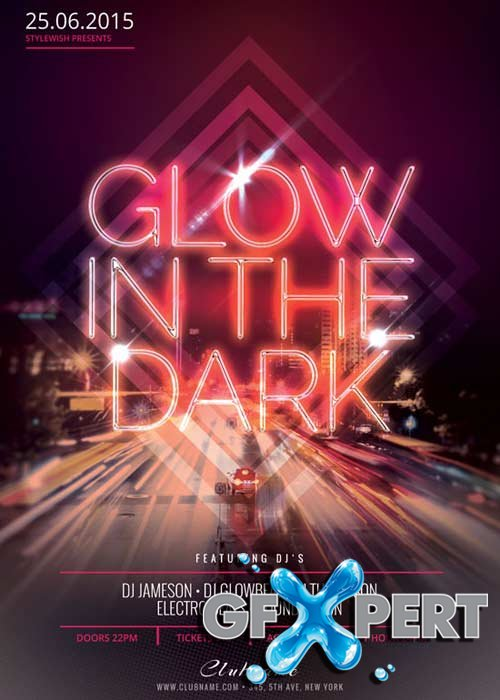 Glow In The Dark V17 Flyer Template