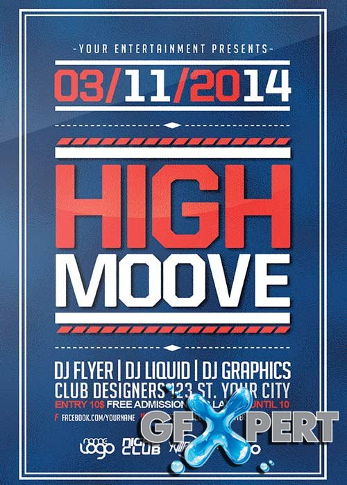 High Moove V7 Flyer Template