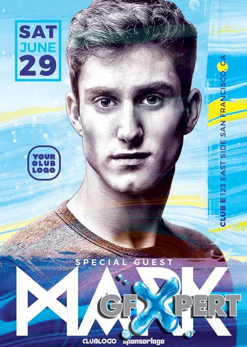 DJ Mark Club V5 Party Flyer Template