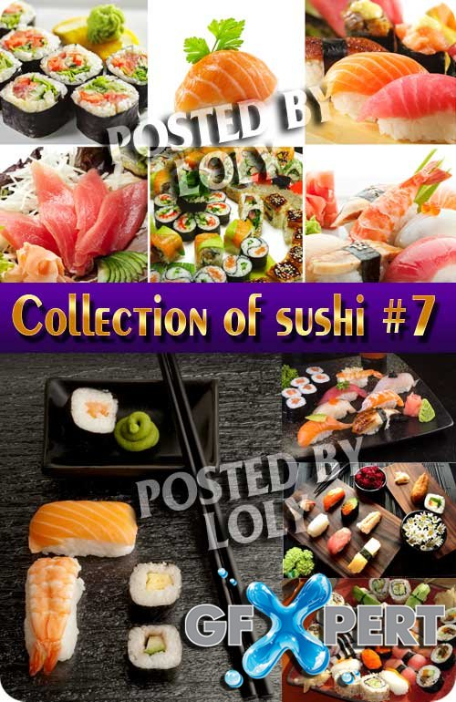 Collection of sushi #7 - Stock Photo