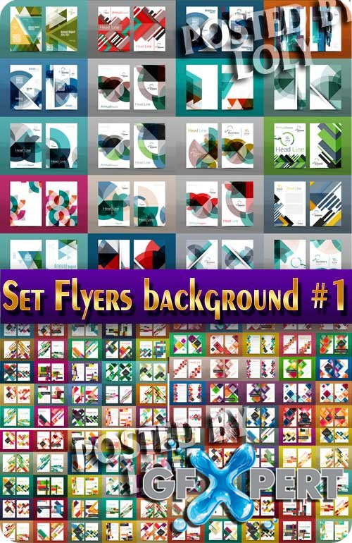 Set Flyers background #1 - Stock Vector