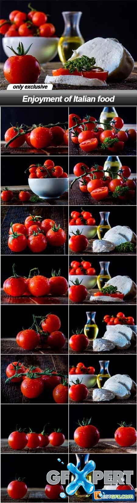 Enjoyment of Italian food - 16 UHQ JPEG