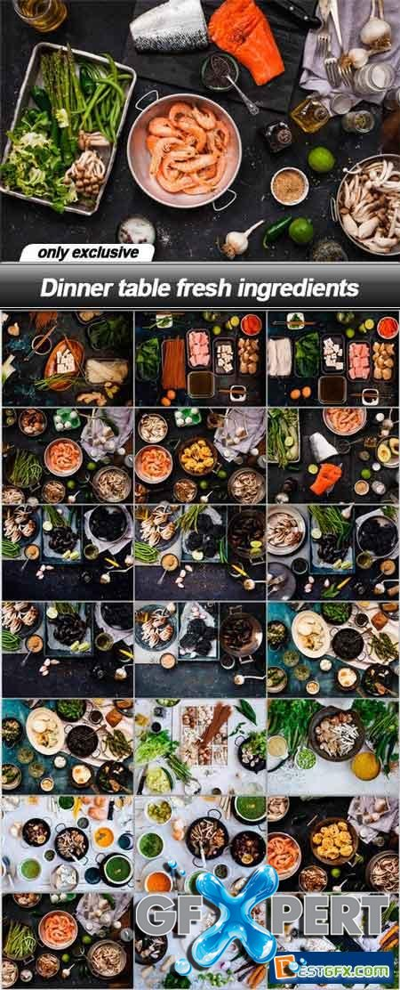 Dinner table fresh ingredients - 22 UHQ JPEG
