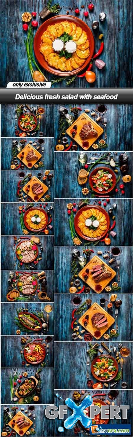 Delicious fresh salad with seafood - 17 UHQ JPEG