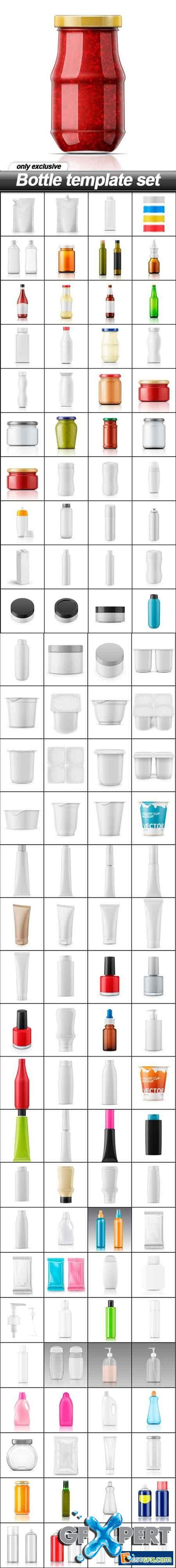 Bottle template set - 117 EPS