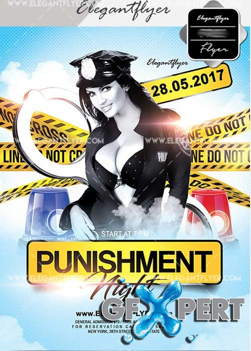 Night Punishment V21 Flyer PSD Template + Facebook Cover