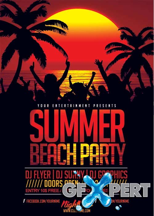 Summer Beach V36 Flyer Template