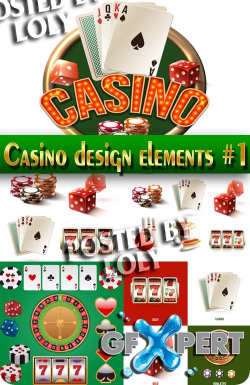 Casino design elements #1 - Stock Vector