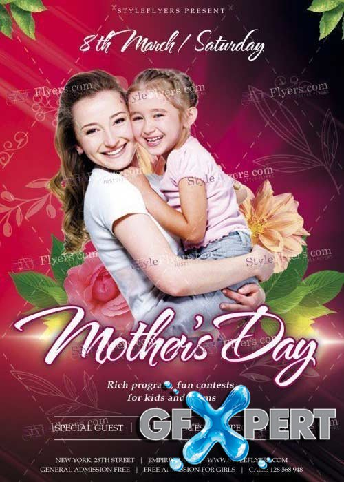 Mothers Day V29 PSD Flyer