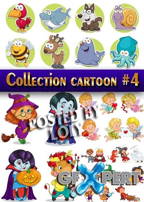 Collection of Cartoon #4 - Stock Vector