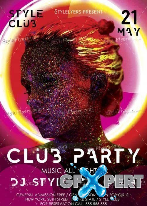 Club Party V28 Flyer Psd Template
