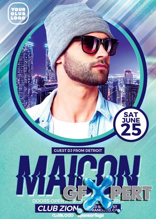 DJ Maicon V3 Party Flyer Template