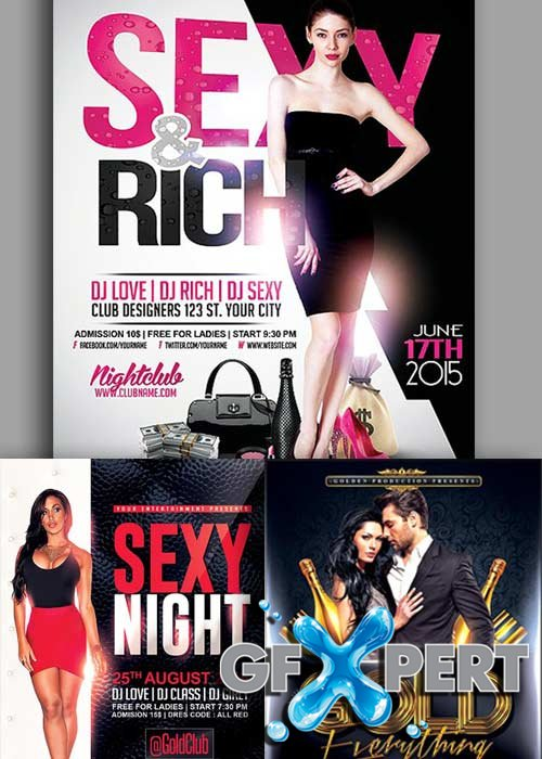 Sexy Night Party 3in1 V1 Flyer Template