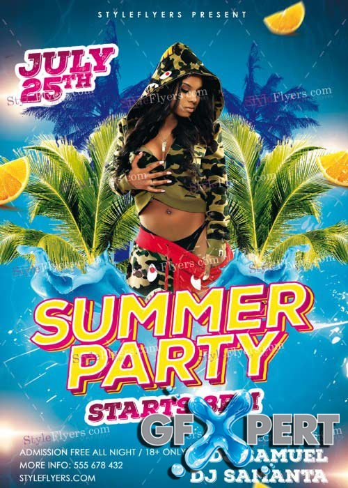 Summer Party V41 PSD Flyer Template