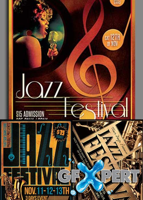 Jazz Festival 3in1 V1 Flyer Template