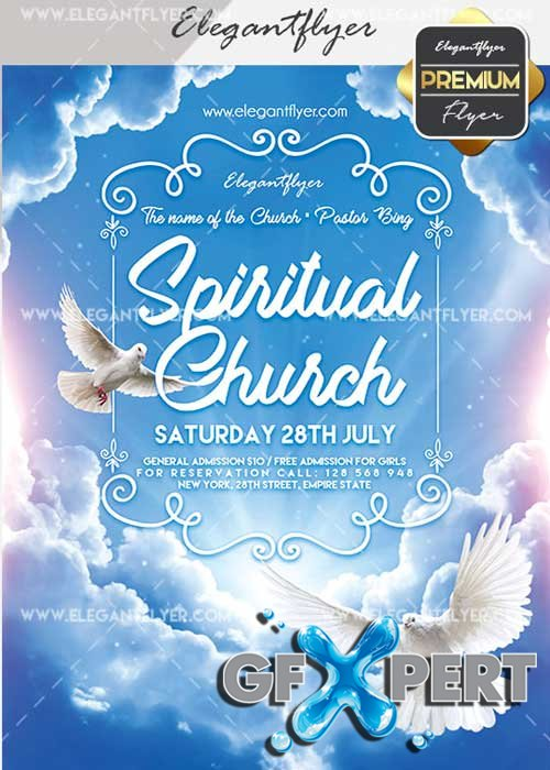 Spiritual Church V7 Flyer PSD Template + Facebook Cover